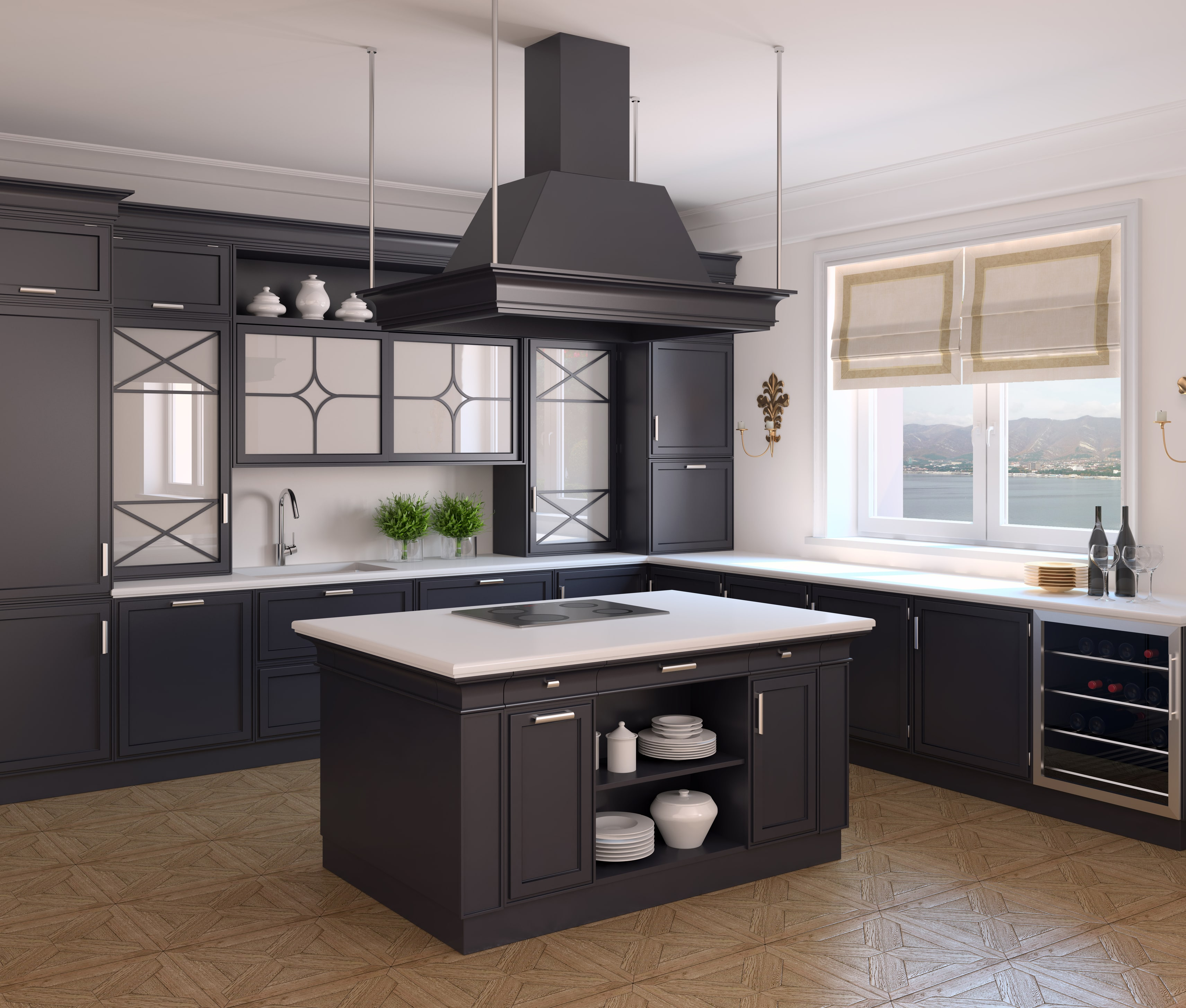 Open Oven In Kitchen: Armoires De Cuisine Tendances Par